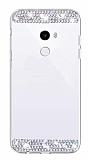 Eiroo Bling Mirror Xiaomi Mi Mix 2 Silikon Kenarlı Aynalı Silver Rubber Kılıf