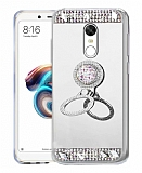 Eiroo Bling Mirror Xiaomi Redmi 5 Plus Silikon Kenarlı Aynalı Silver Rubber Kılıf