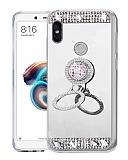 Eiroo Bling Mirror Xiaomi Redmi S2 Silikon Kenarlı Aynalı Silver Rubber Kılıf
