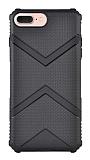 Eiroo Blow iPhone 7 Plus / 8 Plus Ultra Koruma Siyah Kılıf