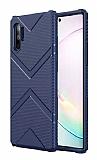Eiroo Blow Samsung Galaxy Note 10 Plus Ultra Koruma Lacivert Kılıf
