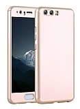 Eiroo Body Fit Huawei P10 360 Derece Koruma Gold Silikon Kılıf