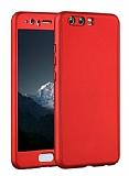 Eiroo Body Fit Huawei P10 360 Derece Koruma Kırmızı Silikon Kılıf