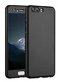 Eiroo Body Fit Huawei P10 Plus 360 Derece Koruma Siyah Silikon Kılıf