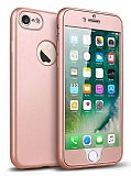 Eiroo Body Fit iPhone 6 Plus / 6S Plus 360 Derece Koruma Rose Gold Silikon Kılıf