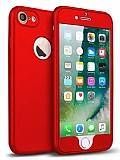 Eiroo Body Fit iPhone 7 360 Derece Koruma Kırmızı Silikon Kılıf