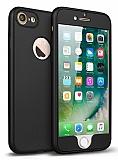 Eiroo Body Fit iPhone 7 360 Derece Koruma Siyah Silikon Kılıf