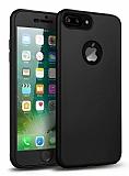 Eiroo Body Fit iPhone 7 Plus 360 Derece Koruma Siyah Silikon Kılıf