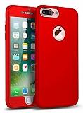 Eiroo Body Fit iPhone 7 Plus 360 Derece Koruma Kırmızı Silikon Kılıf