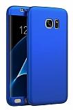 Eiroo Body Fit Samsung Galaxy S7 Edge 360 Derece Koruma Lacivert Silikon Kılıf