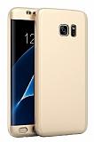 Eiroo Body Fit Samsung Galaxy S7 Edge 360 Derece Koruma Gold Silikon Kılıf