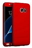 Eiroo Body Fit Samsung Galaxy S7 Edge 360 Derece Koruma Kırmızı Silikon Kılıf