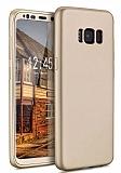 Eiroo Body Fit Samsung Galaxy S8 Plus 360 Derece Koruma Gold Silikon Kılıf