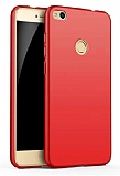 Eiroo Body Thin Huawei P9 Lite 2017 360 Derece Koruma Kırmızı Rubber Kılıf