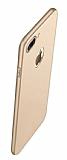 Eiroo Body Thin iPhone 7 Plus / 8 Plus 360 Derece Koruma Gold Rubber Kılıf