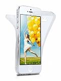 Eiroo Body Thin iPhone SE / 5 / 5S 360 Derece Koruma Şeffaf Rubber Kılıf