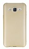 Eiroo Body Thin Samsung Galaxy J7 2016 360 Derece Koruma Gold Rubber Kılıf