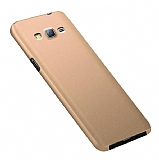 Eiroo Body Thin Samsung Galaxy J7 360 Derece Koruma Gold Rubber Kılıf