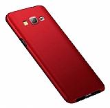 Eiroo Body Thin Samsung Galaxy J7 360 Derece Koruma Kırmızı Rubber Kılıf