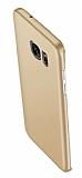 Eiroo Body Thin Samsung Galaxy S7 Edge 360 Derece Koruma Gold Rubber Kılıf