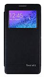 Eiroo Boostar Samsung Galaxy Alpha Pencereli �nce Kapakl� Siyah K�l�f