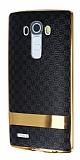 Eiroo Boss Fit LG G4 Deri Görünümlü Siyah Silikon Kılıf