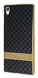Eiroo Boss Fit Sony Xperia Z5 Premium Deri Görünümlü Siyah Silikon Kılıf