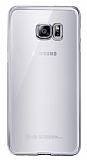 Eiroo Breza Samsung Galaxy S7 Edge Silver Kenarlı Şeffaf Kristal Kılıf