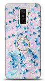 Eiroo Bright Samsung Galaxy A6 Plus 2018 Sulu Simli Mavi Silikon Kılıf
