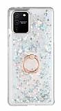 Eiroo Bright Samsung Galaxy S10 Lite Sulu Simli Silver Silikon Kılıf