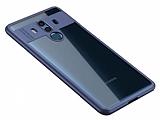 Eiroo Cam Hybrid Huawei Mate 10 Pro Kamera Korumalı Kenarlı Lacivert Rubber Kılıf