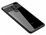 Eiroo Cam Hybrid Huawei Mate 10 Pro Kamera Korumalı Kenarlı Siyah Rubber Kılıf