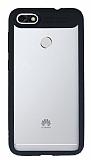 Eiroo Cam Hybrid Huawei P9 Lite Mini Kamera Korumalı Siyah Kenarlı Rubber Kılıf