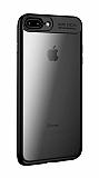 Eiroo Cam Hybrid iPhone 7 Plus / 8 Plus Kamera Korumalı Siyah Kenarlı Rubber Kılıf