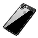 Eiroo Cam Hybrid iPhone X Kamera Korumalı Siyah Kenarlı Rubber Kılıf