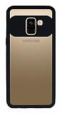 Eiroo Cam Hybrid Samsung Galaxy J4 Kamera Korumalı Siyah Kenarlı Rubber Kılıf