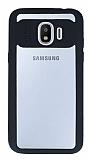 Eiroo Cam Hybrid Samsung Galaxy J2 Pro 2018 Kamera Korumalı Siyah Kenarlı Rubber Kılıf