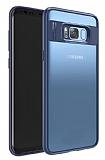 Eiroo Cam Hybrid Samsung Galaxy S8 Plus Kamera Korumalı Lacivert Kenarlı Rubber Kılıf