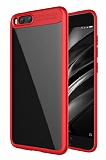 Eiroo Cam Hybrid Xiaomi Mi 5X / Mi A1 Kamera Korumalı Kırmızı Kenarlı Rubber Kılıf
