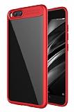 Eiroo Cam Hybrid Xiaomi Mi 6 Kamera Korumalı Kenarlı Kırmızı Rubber Kılıf