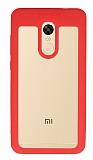 Eiroo Cam Hybrid Xiaomi Redmi Note 4 / Redmi Note 4X Kamera Korumalı Kırmızı Kenarlı Rubber Kılıf