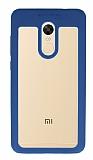 Eiroo Cam Hybrid Xiaomi Redmi Note 4 / Redmi Note 4X Kamera Lacivert Korumalı Kenarlı Rubber Kılıf