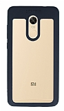 Eiroo Cam Hybrid Xiaomi Redmi Note 4 / Redmi Note 4X Kamera Korumalı Siyah Kenarlı Rubber Kılıf