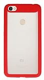 Eiroo Cam Hybrid Xiaomi Redmi Note 5A Kamera Korumalı Kırmızı Kenarlı Rubber Kılıf