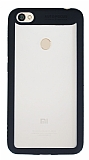 Eiroo Cam Hybrid Xiaomi Redmi Note 5A Kamera Korumalı Siyah Kenarlı Rubber Kılıf