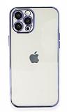 Eiroo Camera Protect iPhone 11 Pro Kamera Korumalı Mor Silikon Kılıf