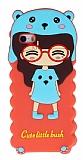 Eiroo Candy House iPhone SE / 5 / 5S Pembe Kız Silikon Kılıf