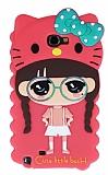 Eiroo Candy House Samsung N7100 Galaxy Note 2 Pembe K�z Silikon K�l�f