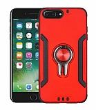 Eiroo Car Magnet iPhone 7 Plus / 8 Plus Ultra Koruma Kırmızı Kılıf