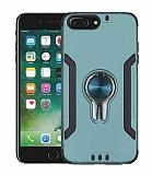 Eiroo Car Magnet iPhone 7 Plus / 8 Plus Ultra Koruma Yeşil Kılıf